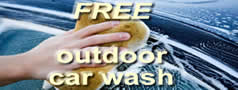 FREE outdoor car wash